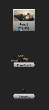 nuke pixelsort example comp
