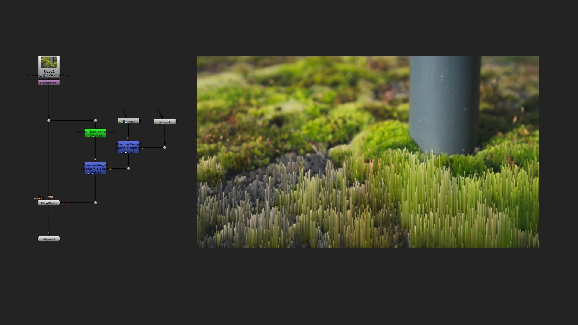 pixelsort example nuke